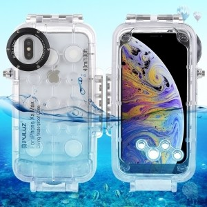 Case Custodia Impermeabile per Immersioni 40 metri Waterproof per iPhone XS Max