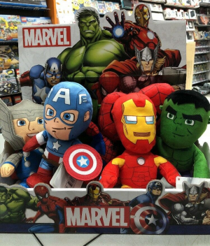 IRON MAN : Peluche ORIGINALE MARVEL AVENGERS 18 cm