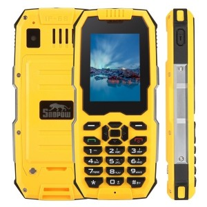 "Snopow M2 Plus DUAL SIM 3G 4G 2,4"" 1GB + 8GB IMPERMEABILE IP68 RESISTENTE RUGGED (Giallo)"