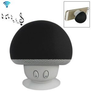 Speaker Fungo Altoparlante Bluetooth Impermeabile Ricaricabile Ventosa Mushroom (Nero)