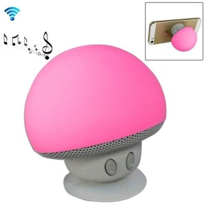 Speaker Fungo Altoparlante Bluetooth Impermeabile Ricaricabile Ventosa Mushroom (Rosa)