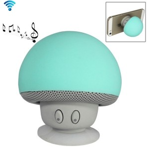 [IT] Speaker Fungo Altoparlante Bluetooth Impermeabile Ricaricabile Ventosa Mushroom (Azzurro)