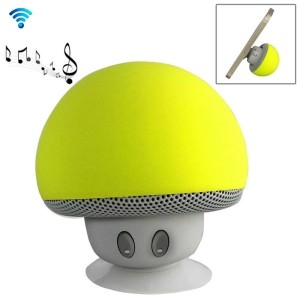 Speaker Fungo Altoparlante Bluetooth Impermeabile Ricaricabile Ventosa Mushroom (Giallo)