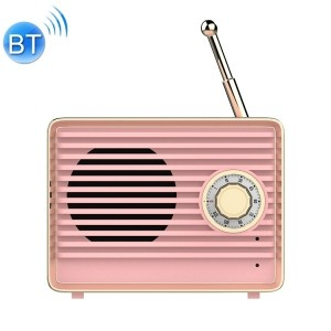 Radio Stile Vintage Speaker Altoparlante Bluetooth (Rosa)